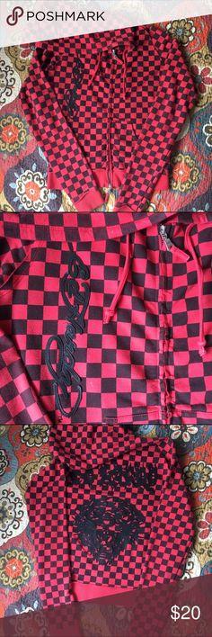 Ed hardy zip-up hoodie Great condition. Comfortable! Ed Hardy Tops Sweatshirts & Hoodies