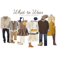 "FAMILY PHOTOS: ""What to Wear"" by savvystylist on Polyvore"