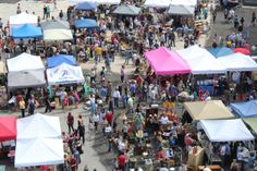 district flea market.