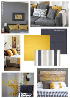 The living room color schemes to give the impression of more colorful living. Find pretty living room color scheme ideas that speak your personality. Mustard Bedroom, Mustard Sofa, Room Interior, Interior Design, Eclectic Design, Interior Paint, Living Room Color Schemes, Living Room Grey, Grey Room