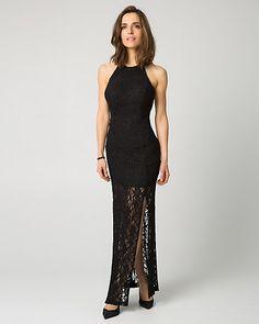 Lace Halter Neck Gown
