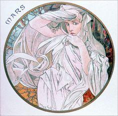 ❤ - Alphonse Mucha Mars 1899