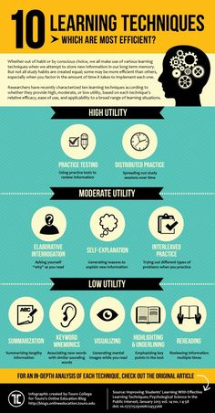 The Top 10 Learning Techniques Infographic | e-Learning Infographics