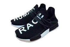 low cost 9d17f 6fe0c Cheap Men Pharrell x Adidas NMD Human Race Running Shoes Black White