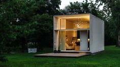 Panelový domek je hotov za sedm hodin a dá se stěhovat z místa na místo. Nepotřebuje základy