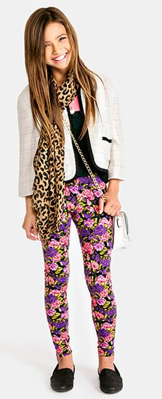 Floral Printed Leggings and smart jacket| Forever 21