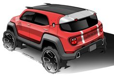 Form Trends Concept Car Design Jeep Renegade Car Design Sketch