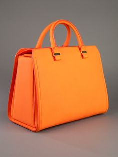 Victoria Beckham Leather Tote - simple, structured in great color  #porteropintowin