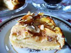 Bavarian apple cheese cake or torte.     It is certainly sweet, but not overly so, and not rich and heavy with cream cheese (many other recipes have double the amount and are more correctly called a cheese cake than a torte.)  If you want to think you're visiting an authen...