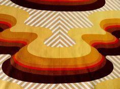 """PANTON ERA original 60s 70s Curtain Pair  /  fabric /Top Design Good Condition 78x40"""" Each"""