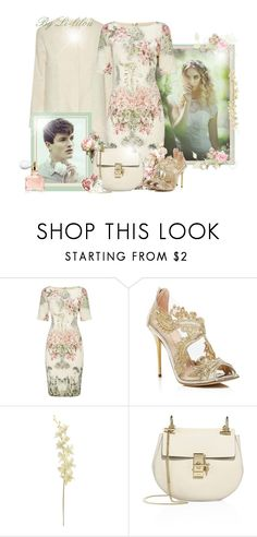 """~Une journée de Printemps!~"" by li-lilou ❤ liked on Polyvore featuring Adrianna Papell, Oscar de la Renta, Chloé and Guerlain"