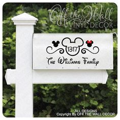 "Disney ""Mickey Mouse"" Vinyl Mailbox Lettering Decoration Decal Sticker | Home & Garden, Home Décor, Tile Art | eBay!"