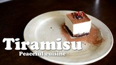 Tiramisu (raw vegan) ☆ ティラミス