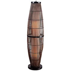 We love the exotic looks of this outdoor floor lamp.