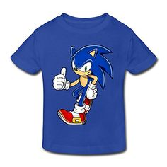Toddler's 100% Cotton Cool Sonic The Hedgehog Cute T-Shirt RoyalBlue US Size 5-6 Toddler ** You can find more details by visiting the image link.