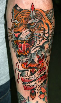 I always love an awesome tiger tattoo.
