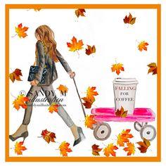 An autumn coffee girl    Sandy M