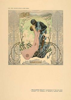 iwanderaimlessly:  1906 Art Nouveau Sleeping Beauty Kiss Heinrich Lefler by Andrea Speziali on Flickr.
