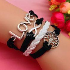 Love leather silver bracelet Nice bracelet new Jewelry Bracelets