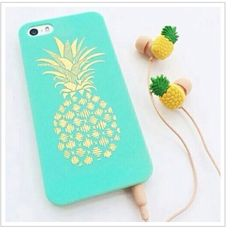Coque et écouteurs ananas, iPhone 5/5s claire's