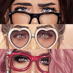 Girls and Sun Glasses #fashion / Ragazze e Occhiali da sole #Moda - Art by girly_m, on Websta (Webstagram)