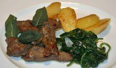 Kalbsleber, Spinat & Kartoffeln