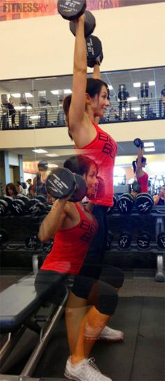 Tank Top Tone-Up: Part 1. Two intense combination shoulder exercises. With summer approaching, temperatures are rising and so are our sleeve lengths. Goodbye, sweaters and long sleeves— hello, tank tops and strappy dresses! It's officially time to get armed for summer!