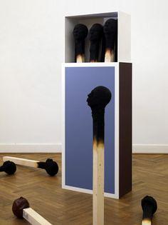 art show men Installation faces Burnout matches Wolfgang Stiller matchstick men matchstick matchboxes Tuxboard Modern Art, Contemporary Art, Blog Art, Instalation Art, Grandeur Nature, Art Français, Artist Art, Human Head, Human Faces