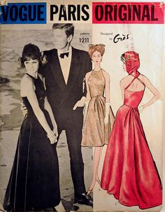 vintage 60s gres pattern ~ sort of Mod formal evening attire