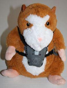 "Disney G-Force Darwin plush guinea pig stuffed animal like hamster 10"" brown tan"
