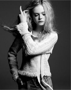 elle fanning by yu tsai... she is so adorable.. i cant believe she's almost 14