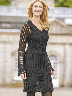 CROCHET FASHION TRENDS - exclusive black crochet  dress - made to order on Etsy, 334,87€