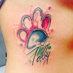 Procurando Uma Pata De Impressão Tatuagem?
