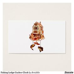 Fishing Lodge Cuckoo Clock