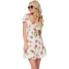 """Lucca Floral Skater Dress"" found on Polyvore"