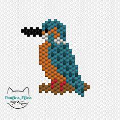 WEBSTA @ pauline_eline - Encore un diagramme !!! Et merci à vous les gens, ça me fait tellement plaisir de voir mes animaux sur vos comptes !  #jenfiledesperlesetjassume #diagrammeperles #beadpattern #martinpecheur #kingfisher #oiseau #bird #brickstitch #motifpauline_eline #miyukiaddict #miyuki #perlesaddict #perles