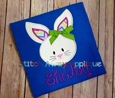 Bunny Face Applique - 3 Sizes! | Easter | Machine Embroidery Designs | SWAKembroidery.com Stitch Away Applique