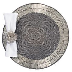 Silver Starburst Placemats - Set of 4...phew that's a ton of beads