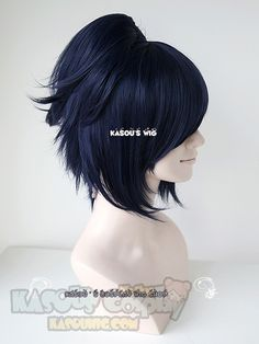 [ Kasou Wig ] Touken Ranbu 刀剣乱舞 Yamatonokami Yasusada bluish purple clip-on ponytail cosplay wig