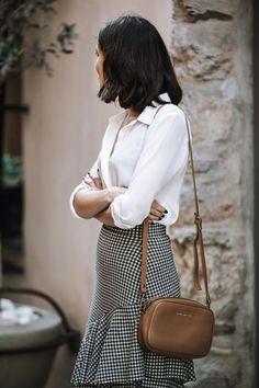 7e3d476846 A gingham ruffle skirt