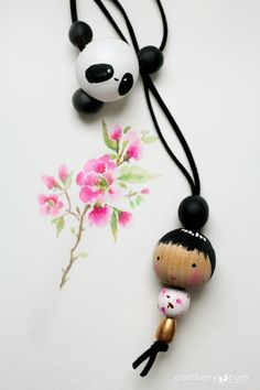 Craftberry Bush | Wooden Bead Doll Necklace | http://www.craftberrybush.com