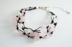Rose Quartz Bracelet. $7.00, via Etsy.