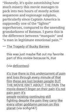 The Tragedy of Bucky Barnes