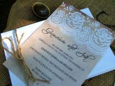 Wedding Invitations Lace wedding invitation by sweetinvitationco, $3.99