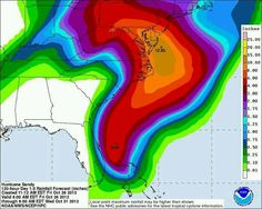 Sandy's rainfall projections as of 10/26/12