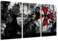 umbrella corporation 3-teilig auf Leinwand- Gesamtformat: 120x80 cm fertig gerahmte Kunstdruckbilder als Wandbild - Billiger als Ölbild oder Gemälde - KEIN Poster oder Plakat: Amazon.de: Küche & Haushalt