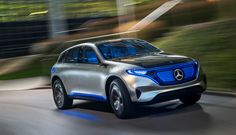 The upcoming 2019 Mercedes-Benz EQC is company's electric concept and it will hit the showrooms in late EQC is a mid-size family SUV and many see it as an alternative for Tesla Model X and Jaguar I-Pace. Sporty Suv, Mercedes Benz Suv, Mercedes Concept, Best Hybrid Cars, Family Suv, Chevrolet Volt, E Mobility, Bmw I, Tesla Model X
