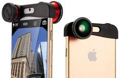Lente 3 en 1 Ojo de Pez, Angular y macro iPhone 6 y 6 Plus