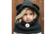 55 opções de capuz para aquecer as crianças no inverno