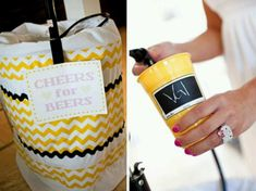 Make these for the kegs- Thinking burlap and lace!!